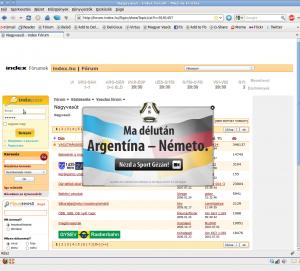 Index reklám layer