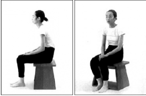 22. ábra: Helytelen testtartás, púpos ülés
