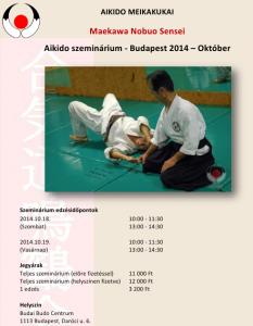 Maekawa szeminárium plakát