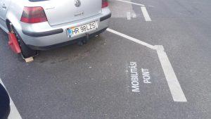 Kerékbilincs és mobilitási pont